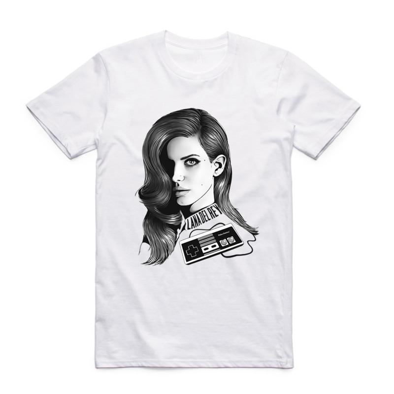 S-XXXL Lana Del Rey marškinėliai Lizzy Grant garsus žvaigždės - Vyriški drabužiai