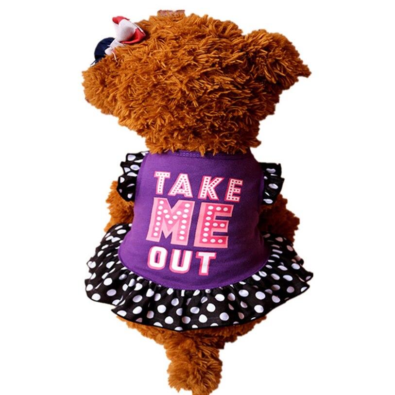 Spring Summer Dog Dress Cute Letter Print Dog Dresses XS L font b Pet b font