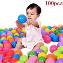 100Pcs 8cm Ocean Balls Colorful Soft Plastic Ball Baby Kids Toys For Children Swim Pit Game Water Pool Wave Funny