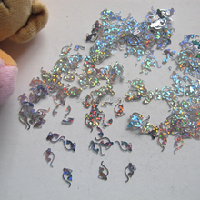 GD22-1 20 г/пакет Симпатичные лазерной серебряный леопард Nail Art шинни блеск милые украшения ногтей украшения