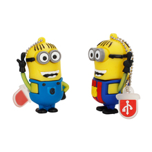 usb flash drive 128GB u disk 2.0 Funny Little Yellow Man pen 4GB 8GB 16GB 32GB 64GB pendrive Despicable Me free delivery