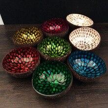 5 개 세트 천연 코코넛 껍질 키 사탕 그릇 테이블 스토리지 섹션 코코넛 그릇 크리 에이 티브 장식품 스토리지 그릇 크리스마스 선물 장난감