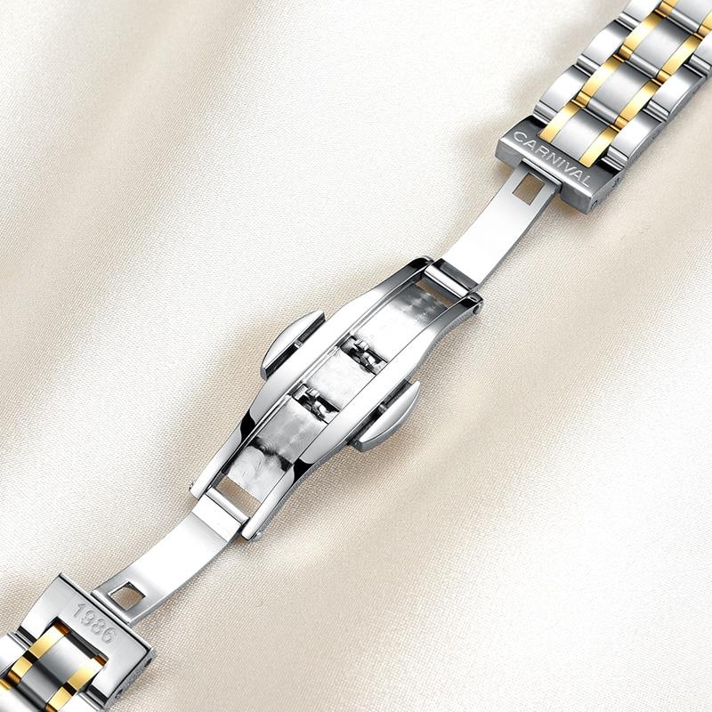 Carnaval luxe merk horloge vrouwen japan quartz klok zwitserland - Herenhorloges - Foto 6