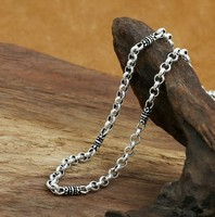 long necklace men initial necklace neckless 925 sterling silver necklace