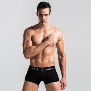 Image 3 - 10 PCS Jack Claude Men Underwear Boxers Brand Men Boxer Shorts Modal Sexy Cueca Boxer Mens 10 pcs Underwear Male Underpants