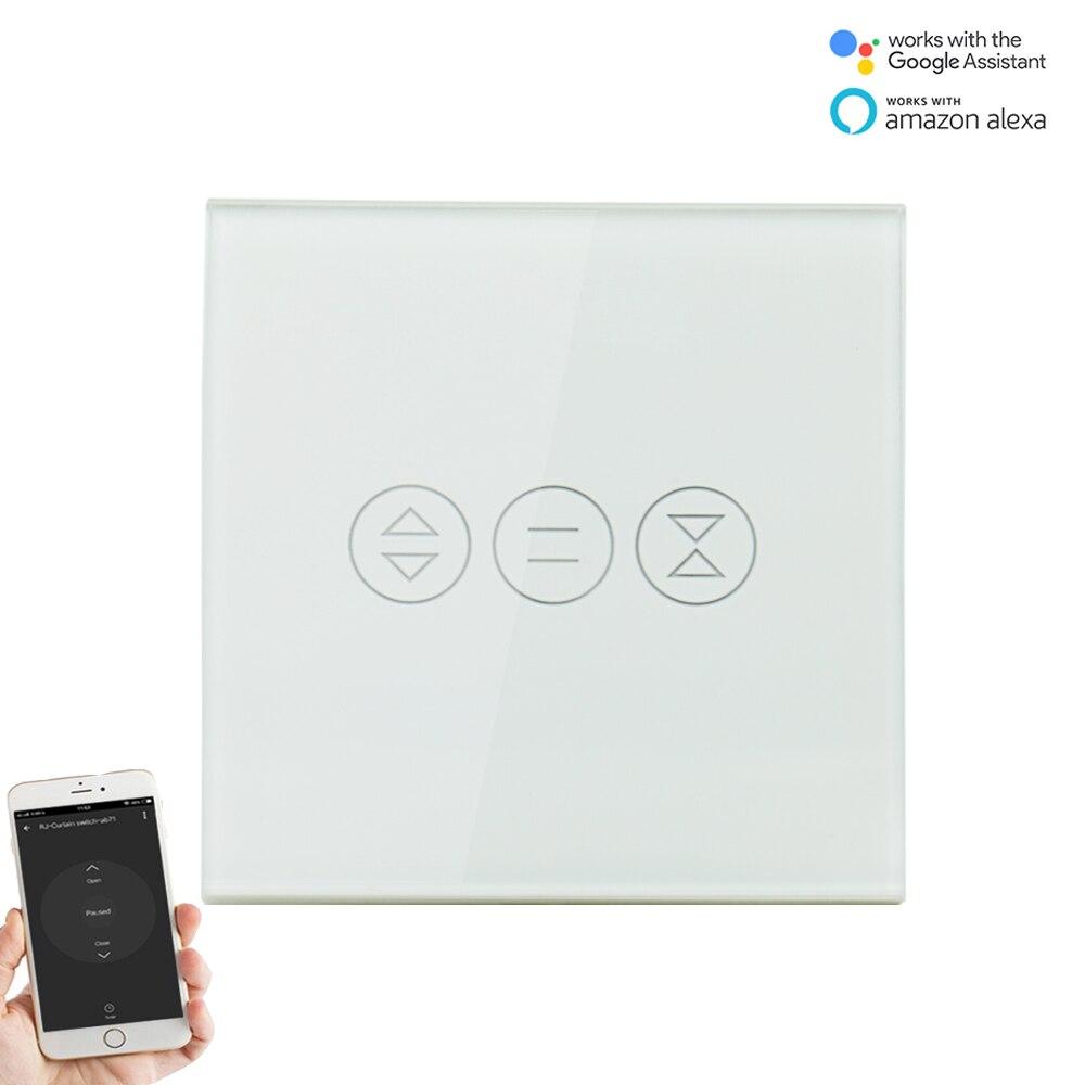 EU Smart WiFi Curtain Switch For Electric Curtain Roller Shutter Blind Motor Voice Control Google Home Alexa Tuya Smart Life