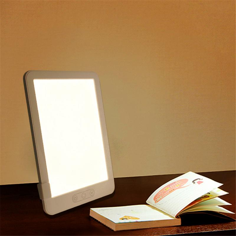 NEW SAD Therapy Lamp 3 Modes Seasonal Affective Disorder Phototherapy Simulating Natural Daylight US/EU Plug Stepless dimming 17