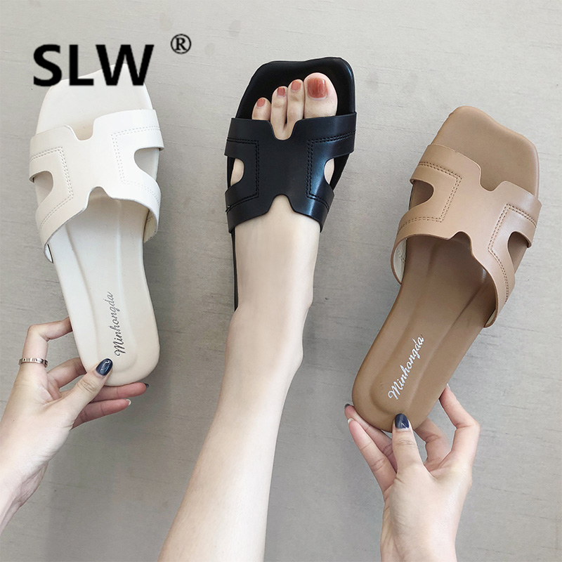 Womens Slippers 2019 Socofy Shoes Without Heel Slides Fenty Beauty Low New Soft Flat Beach Sliders Luxury Fashion PU Buckle  Womens Slippers 2019 Socofy Shoes Without Heel Slides Fenty Beauty Low New Soft Flat Beach Sliders Luxury Fashion PU Buckle