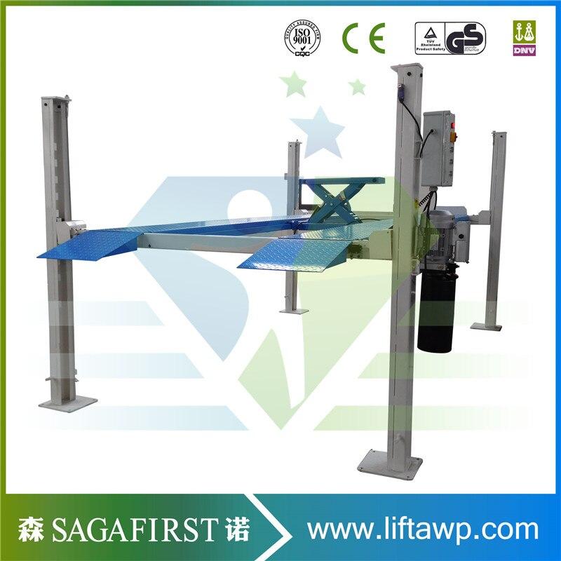 New designed safe electric garage lift storage system 4 post home garage car lift