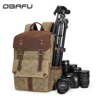 OBAFU DSLR Camera Backpacks Photography Soft Bag Packs Carry Cases for Canon Nikon Sony Pentax Waterproof with Tripod Holder