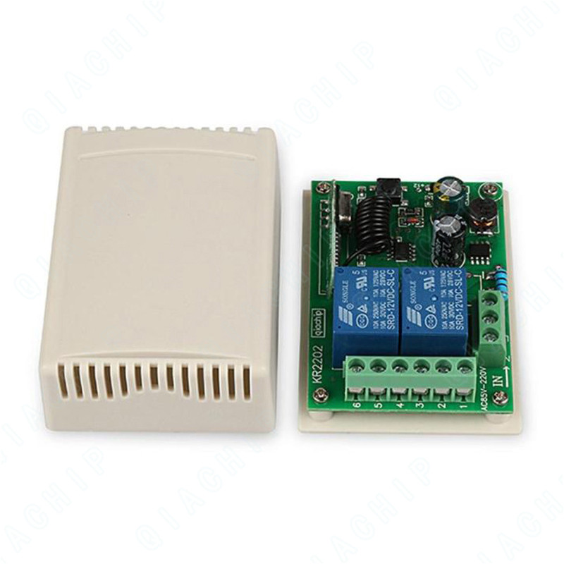 Image 2 - Universal  Wireless 433 MHz Remote Control Switch AC 110V 220V 2 CH Relay Receiver Module + Wall Panel RF Remote Controls-in Remote Controls from Consumer Electronics
