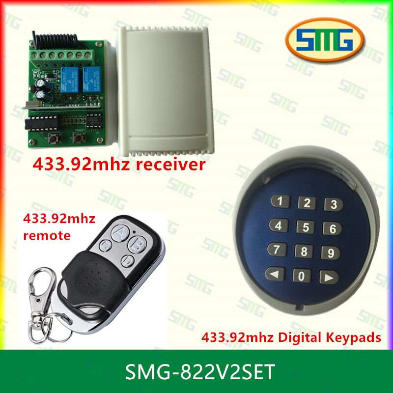 433MHz Wireless Keypad password switch Universal remote control and receiver for gate door access control wireless access keypad wireless receiver for entrance access control system