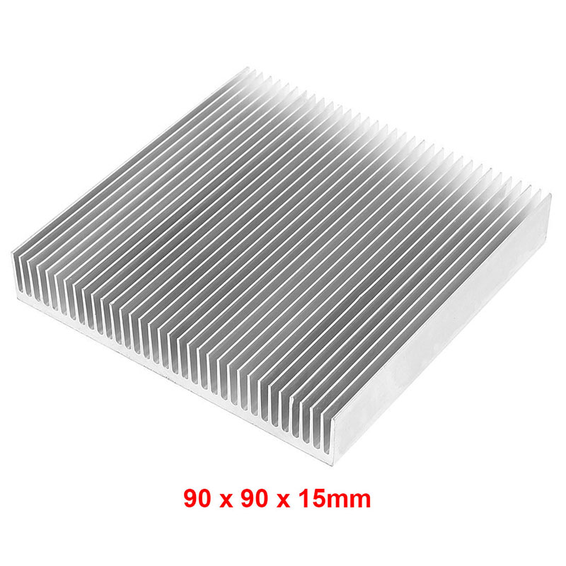Silver 90x90x15mm Aluminum Heat Sink Radiator Heatsink for Chip Projector VGA RAM LED Power Car Amplifier IC heat dissipation 120x69x27mm aluminum radiator high power heatsink for electronic chip cpu gpu vga ram led ic heat sink cooler cooling
