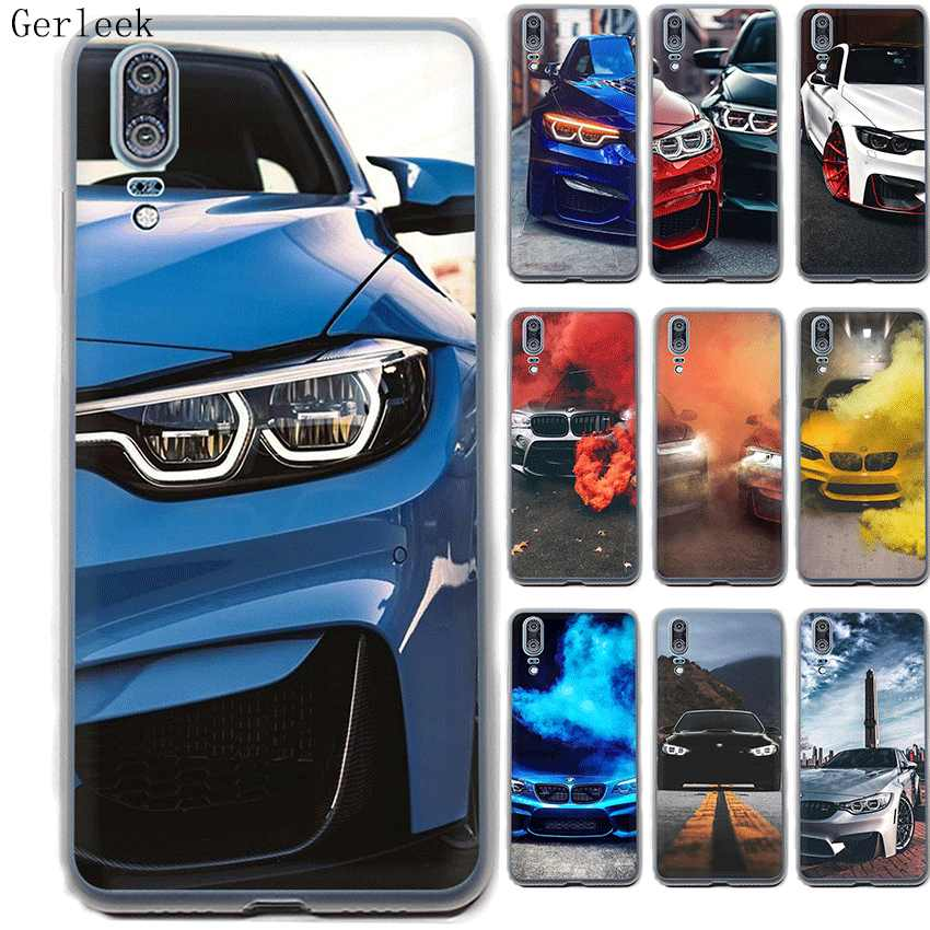 Desxz Case For P Smart P30 P8 P9 P20 P10 Pro Lite Plus MINI Hard Cover BMW