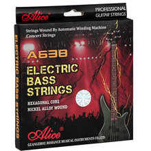 Alice A638 electric bass strings nickelsteel light electric bass string Hexagonal Core Nickel Alloy Wound 045-105 inch