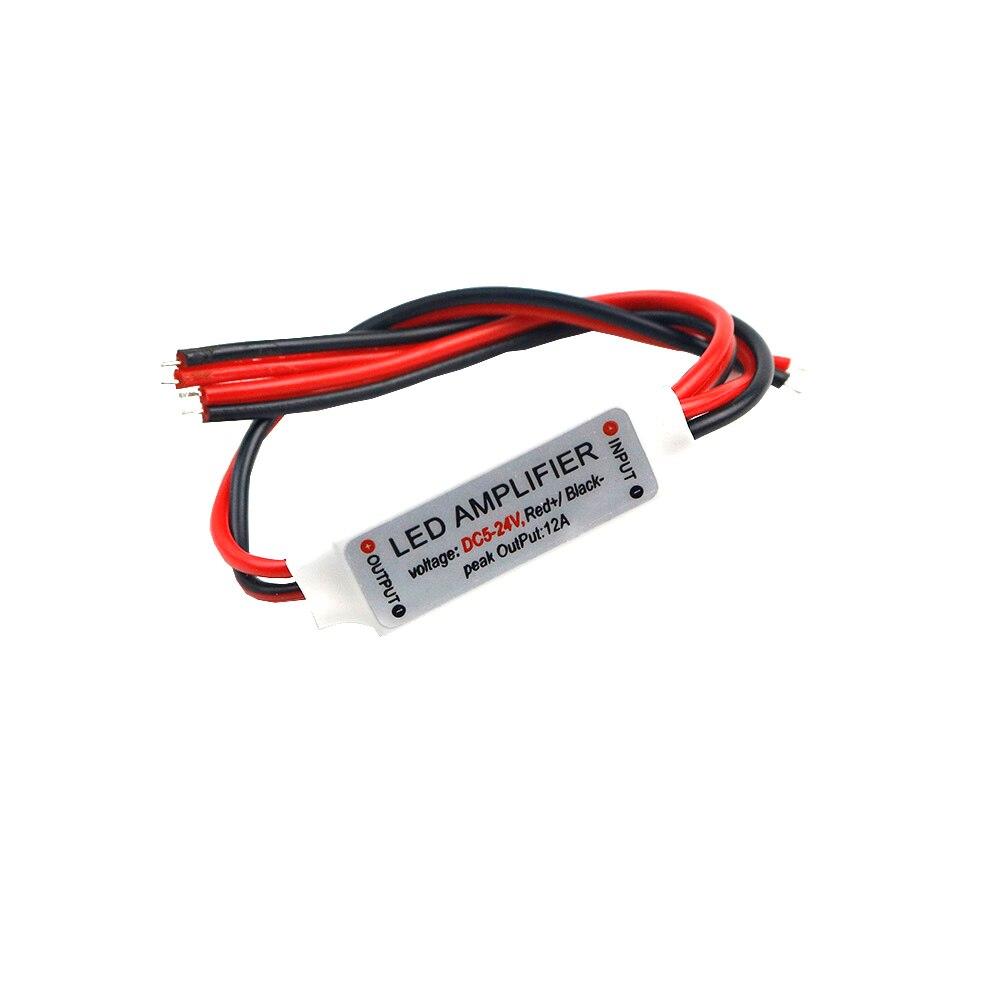 10-20pcs Mini LED Strip Amplifer DC5-24V 1channel 12A For LED Strip Power Accessories  By 5630 5050 Led Strip Single Color