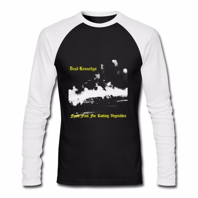 6f750dd3efa4 Rock Band Men s Long Sleeve Raglan T-Shirts Dead Distressed Old English  Font DK Logo New Brand Top Clothing Euro Size