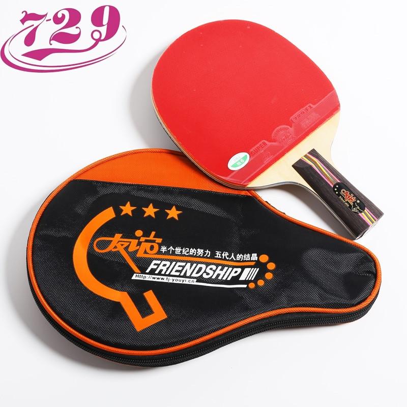 729 Friendship Original 3-Star Training Table Tennis Racket With Rubber + Bag Ping Pong Bat Tenis De Mesa