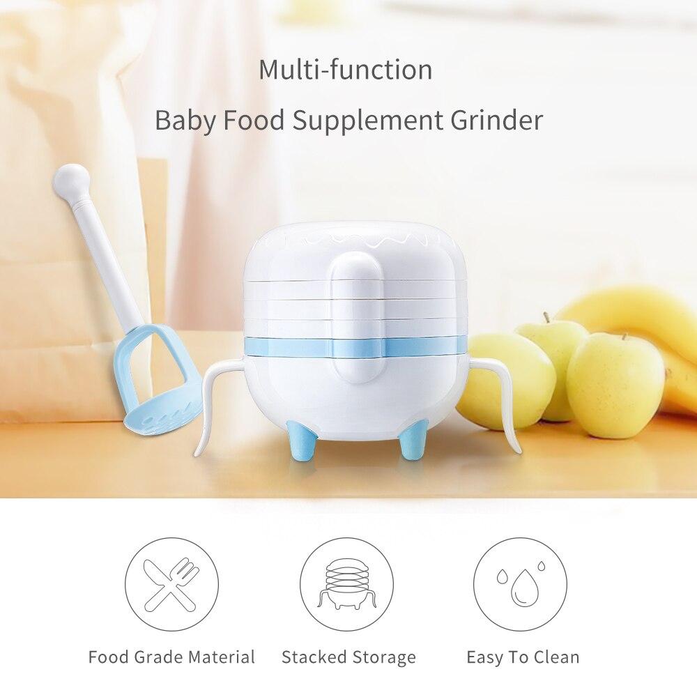 Matern'ella Multifunctional food supplement grinding set Manual food fruit and vegetable grinding bowl Multi-function grinder