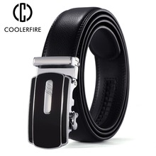 Coolerfire top quality cow genuine fashion leather men belts for automatic buckle strap cinto masculino free shipping ZD076