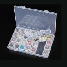 1PC 28 Grid Compartment Transparent Medicine Box Organizer Storage Box Plastic Adjustable Organizador Jewelry Beads Storage Case