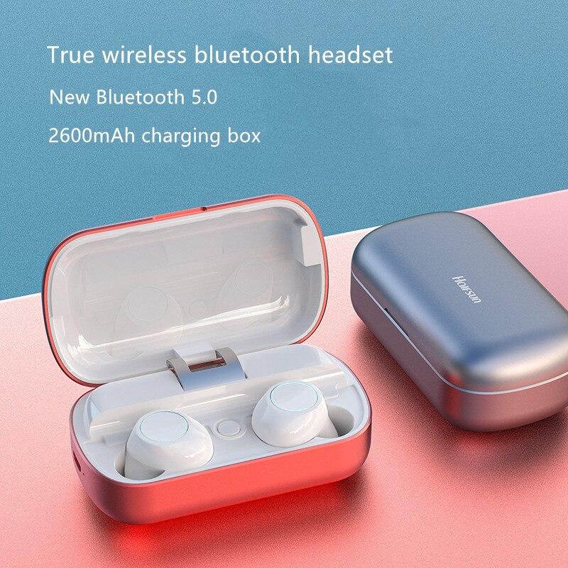 Meilleur TWS casque sans fil Bluetooth 5.0 écouteurs jumeaux écouteurs avec 2600 mAh boîte de charge pour iPhone Xiaomi Airpots Meizu POP