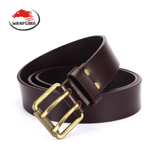 belt for man 2017 genuine leather belts cowboy double pin metal strap males mans luxury belts buckle designer mens belt ZK3.6008