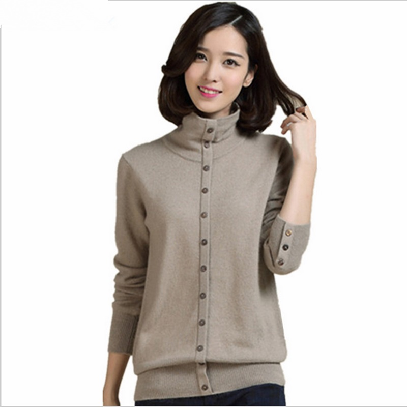 Autumn and winter NEW Cashmere Sweater female Knitted Pullover high collar Wool Sweaters soft coat sets of special package mail
