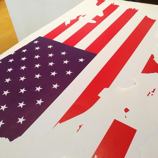 Америка тұсқағазы қабырғалық винил - Үйдің декоры - фото 2