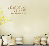 Happiness Is A Hot Bubble Bath Wall Decals Vinyl Stickers Home Decor Living Room Wall Pictures