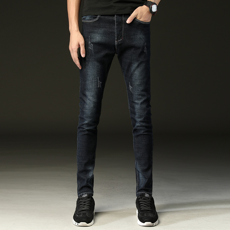 Hot Sale basic classic Mens Casual Slim jeans men washed stretch denim Quality Fit Loose Waist Jeans For jean