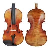 Free Shipping Copy Guarneri del Gesu Cannon II 1743 100% Handmade Oil Varnish Violin FPVN04 Foam Case Carbon Fiber Bow