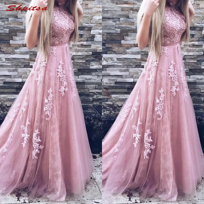 Long Lace Mother Of The Bride Dresses For Weddings Plus Size Evening Gowns Groom Godmother 2018