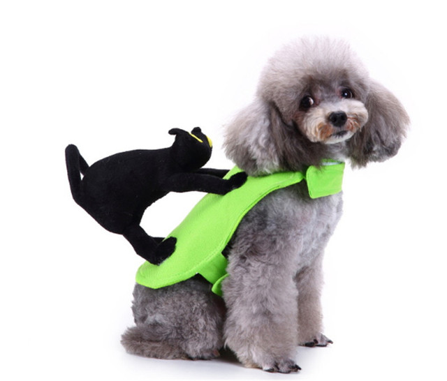 Pet Riding Cat Funny Suit Cosplay Dogs Birthday Party Clothes For Halloween