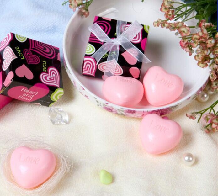 20pcs Creative Love Heart Shaped Handmade Soap Wedding Favors And