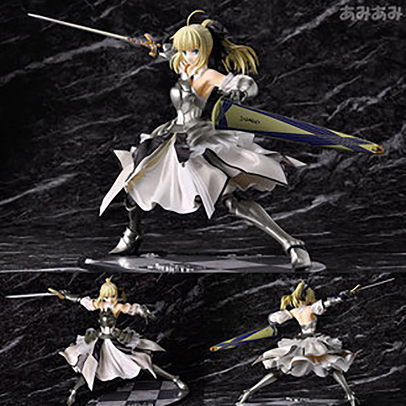 Fate/stay night SABER LILY Action Figures,23CM Figure Collectible Toys,Action Figure Collectible Brinquedos Kids Model Toys Gift fate stay night fate cosplay saber 14cm 5 5 boxed faceswipe garage kit action figures toys face change model