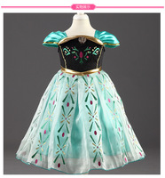 9 Styles Halloween Baby Girls Anna Elsa Princess Party Dress Kids Birthday Gift Cartoon Cosplay Movle