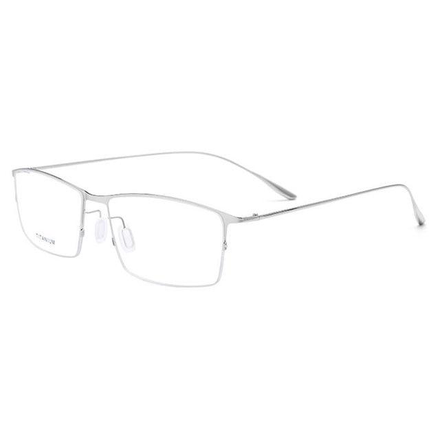 807f27aa6d32 2611 Titanium Alloy Half Rim Eyeglasses Frame Square Shape Fashion Brand  Prescription Glasses Spectacles Eyewear for Men Women