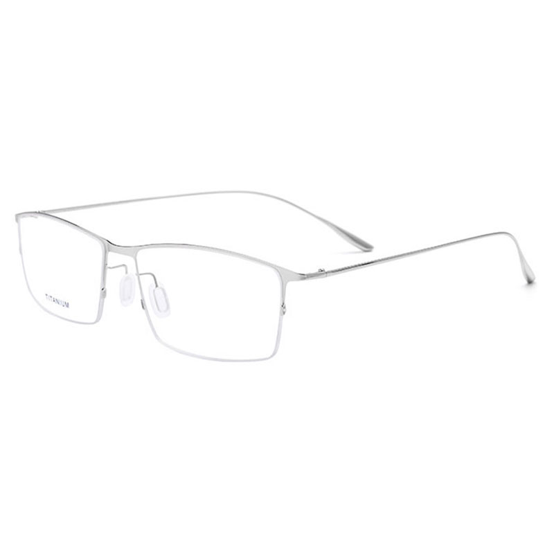 2611 Titanlegierung Halbrand Brillen Rahmen Quadratische Form Marke Brillen Brillen brillen für Männer & Frauen
