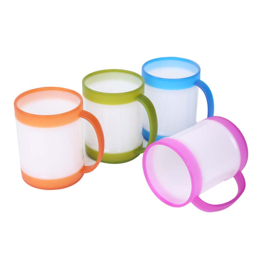 Baby milk cup with handle children cute jelly double ring - Cups and kids ...