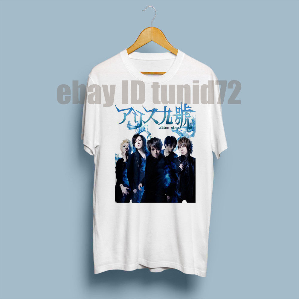Alice Nine Japan visual kei metal Blue Flame T-Shirt Mens Size S-3XL Novelty Cool Tops Men Short Sleeve T shirt ...