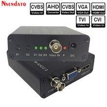 720/1080P 5MP 2MP TVI CVI AHD segnale a HDMI/VGA/CVBS convertitore di segnale adattatore per telecamera CCTV convertitore Video con HDCP NTSC PAL