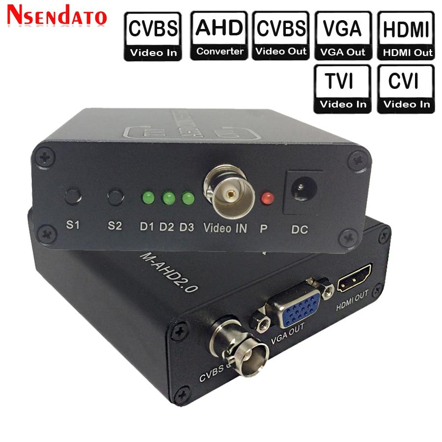 720/1080P 5MP 2MP TVI CVI AHD signal to HDMI/VGA/CVBS signal Converter Adapter For CCTV Camera Video Convert with HDCP NTSC PAL