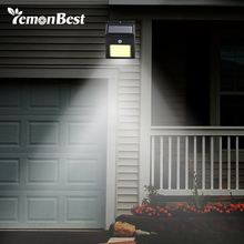 Garden Lamp Solar-Light Pathway Motion-Sensor LED Security Waterproof Human PIR 48 IP65