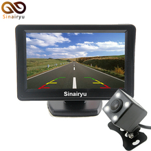 Parking System of car-style ,TFT 4.3 Inch Auto Rearview Parking Monitor + 4 LED Night Vision CCD Rear View Auto Parking Camera