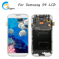 2PCS For Samsung Galaxy S4 I9500 I9505 I337 LCD Touch Display Screen Digitizer Assembly With Frame