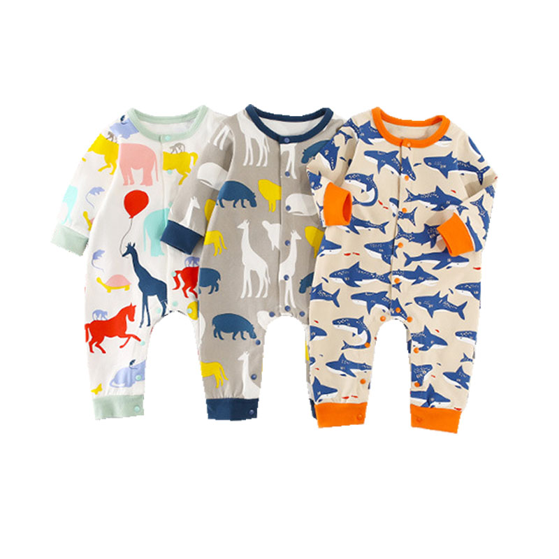Brand Baby   Romper   Long Sleeve Cotton Baby Pajamas Cute Animal Printed Newborn Baby Girls Boys Clothes Bebes Infantil Jumpsuit