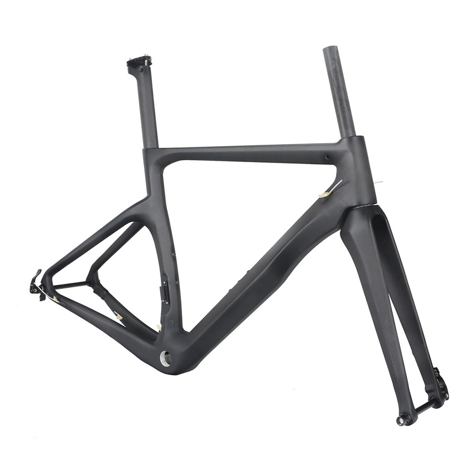 Road Bike Carbon Road Frame  Disc Brake Thru Axle 142mmX12mm And 100mmX12mm Thru Axle Road Frame Disc Brake