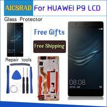 """AICSRAD 5.2 """"LCD لهواوي P9 عرض محول الأرقام بشاشة تعمل بلمس مع الإطار لهواوي P9 شاشة الكريستال السائل EVA L09 EVA L19 استبدال"""