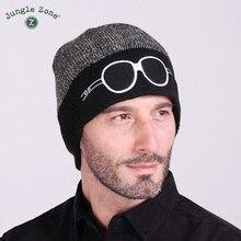 Джунгли зоны Новый лыж cap мультфильм двухцветные очки вязать шляпу мужчины и женщины шерстяная шапочка осень и зима теплая шапка лыж hat